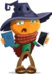 Halloween Scarecrow Cartoon Vector Character - Choosing Between Modern and Oldschool