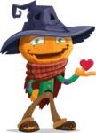 Halloween Scarecrow Cartoon Vector Character - Feeling Inloved