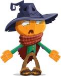 Halloween Scarecrow Cartoon Vector Character - Feeling Lost