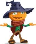 Halloween Scarecrow Cartoon Vector Character - Feeling Sorry