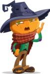 Halloween Scarecrow Cartoon Vector Character - Making a Selfie