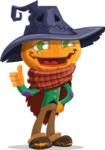 Halloween Scarecrow Cartoon Vector Character - Making Thumbs Up