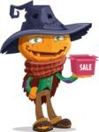 Halloween Scarecrow Cartoon Vector Character - On a Sale