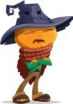 Halloween Scarecrow Cartoon Vector Character - Waiting with Crossed Hands