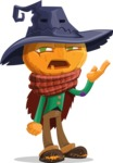 Halloween Scarecrow Cartoon Vector Character - Tired and Yawning