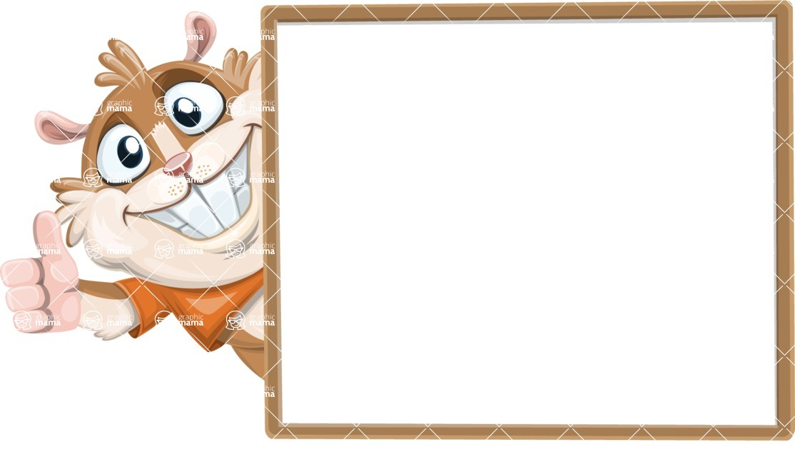 Hamster Cartoon Vector Character AKA Bean McRound - Presentation 5