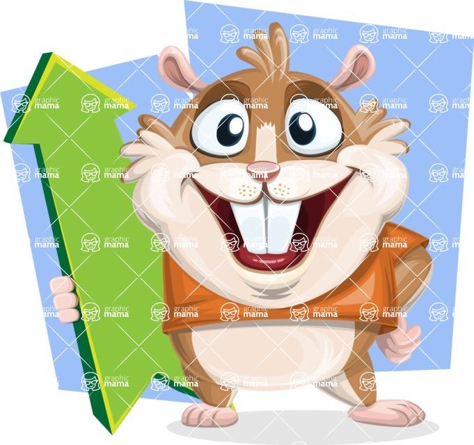 Hamster Cartoon Vector Character AKA Bean McRound - Shape 7
