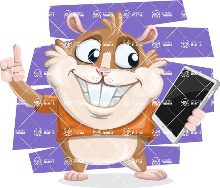 Hamster Cartoon Vector Character AKA Bean McRound - Shape 10
