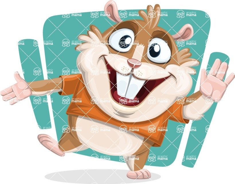 Bean McRound The Smiling Hamster - Shape 12