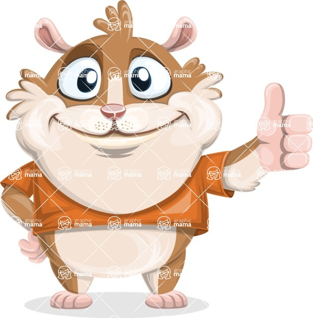 Bean McRound The Smiling Hamster - Thumbs Up