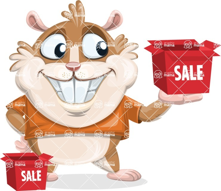 Bean McRound The Smiling Hamster - Sale