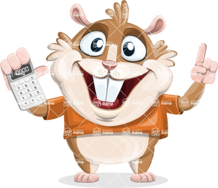 Bean McRound The Smiling Hamster - Calculator