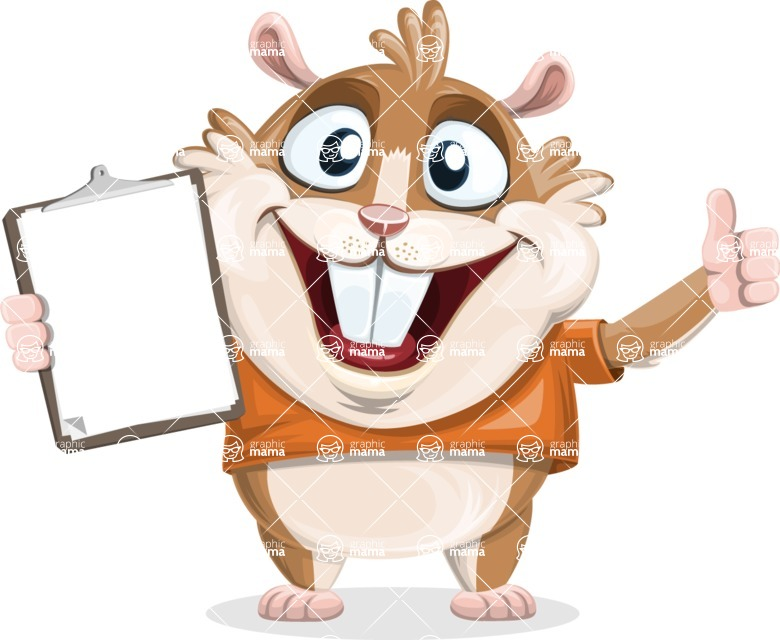 Hamster Cartoon Vector Character AKA Bean McRound - Notepad 1