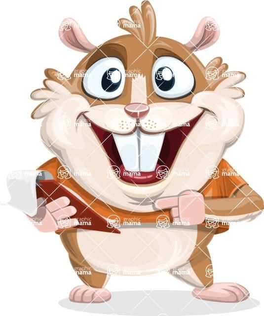 Hamster Cartoon Vector Character AKA Bean McRound - Notepad 3