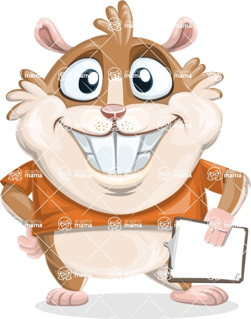 Bean McRound The Smiling Hamster - Notepad 4
