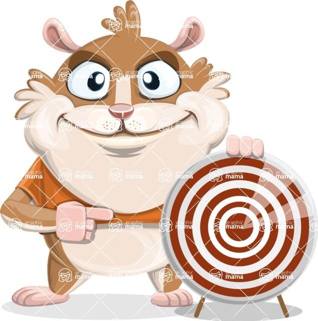 Hamster Cartoon Vector Character AKA Bean McRound - Target