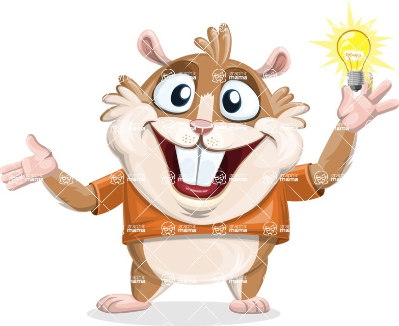 Bean McRound The Smiling Hamster - Idea 1