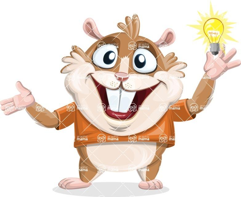 Hamster Cartoon Vector Character AKA Bean McRound - Idea 1