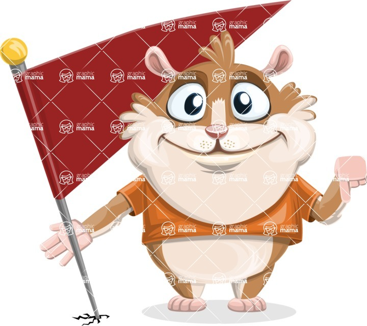 Hamster Cartoon Vector Character AKA Bean McRound - Checkpoint