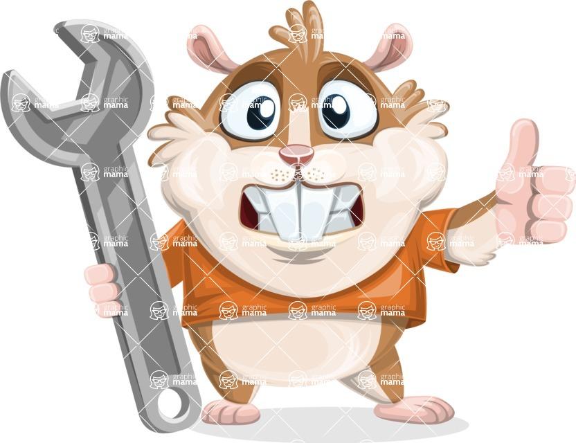 Bean McRound The Smiling Hamster - Repair