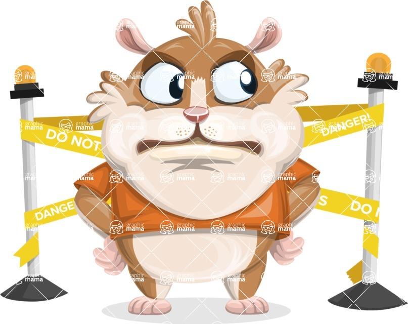 Hamster Cartoon Vector Character AKA Bean McRound - Under Construction 2