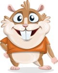 Hamster Cartoon Vector Character AKA Bean McRound - Normal
