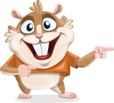 Hamster Cartoon Vector Character AKA Bean McRound - Point 2
