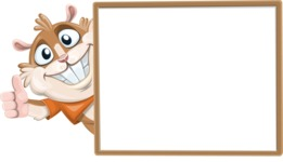 Hamster Cartoon Vector Character AKA Bean McRound - Presentation 5
