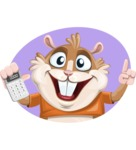 Hamster Cartoon Vector Character AKA Bean McRound - Shape 2