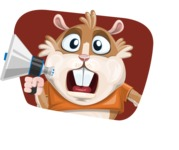 Hamster Cartoon Vector Character AKA Bean McRound - Shape 4