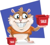 Hamster Cartoon Vector Character AKA Bean McRound - Shape 5