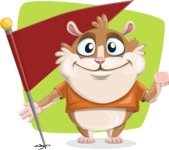 Hamster Cartoon Vector Character AKA Bean McRound - Shape 6