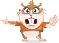 Hamster Cartoon Vector Character AKA Bean McRound - Direct Attention