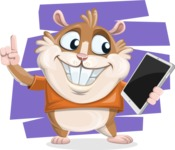 Hamster Cartoon Vector Character AKA Bean McRound - Shape 10