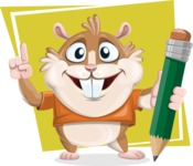 Hamster Cartoon Vector Character AKA Bean McRound - Shape 11