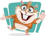 Hamster Cartoon Vector Character AKA Bean McRound - Shape 12