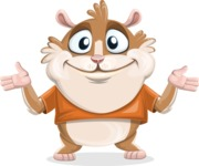 Hamster Cartoon Vector Character AKA Bean McRound - Sorry