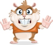 Hamster Cartoon Vector Character AKA Bean McRound - Stop