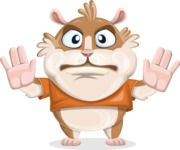 Hamster Cartoon Vector Character AKA Bean McRound - Stop 2