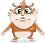Hamster Cartoon Vector Character AKA Bean McRound - Sad