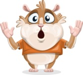 Hamster Cartoon Vector Character AKA Bean McRound - Shocked