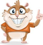 Hamster Cartoon Vector Character AKA Bean McRound - Attention