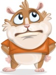 Hamster Cartoon Vector Character AKA Bean McRound - Roll Eyes