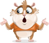 Hamster Cartoon Vector Character AKA Bean McRound - Lost