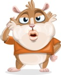 Hamster Cartoon Vector Character AKA Bean McRound - Duckface