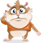 Hamster Cartoon Vector Character AKA Bean McRound - Confused
