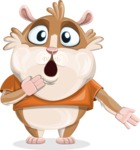 Hamster Cartoon Vector Character AKA Bean McRound - Oops