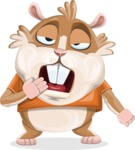 Hamster Cartoon Vector Character AKA Bean McRound - Bored