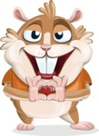 Hamster Cartoon Vector Character AKA Bean McRound - Show Love