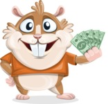 Hamster Cartoon Vector Character AKA Bean McRound - Show me  the Money